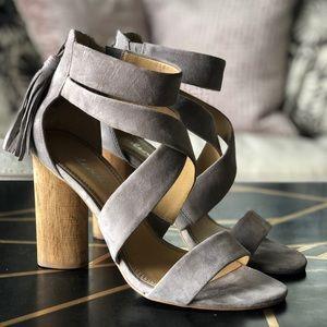 Splendid, Jara, High Heel Sandal, Gray, 8.5